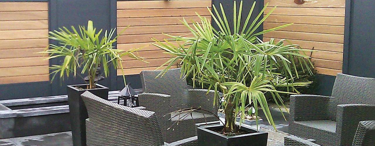 Jardines de estilo moderno por Deck-linéa