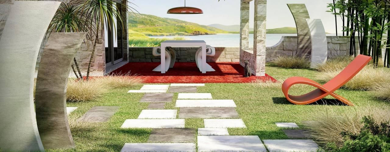 Ambiance Contemporaine - Dallage Lyas Bradstone: Jardin de style  par BRADSTONE