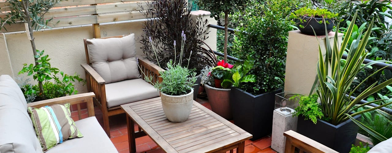 Varandas, alpendres e terraços ecléticos por ésverd - jardineria & paisatgisme Eclético
