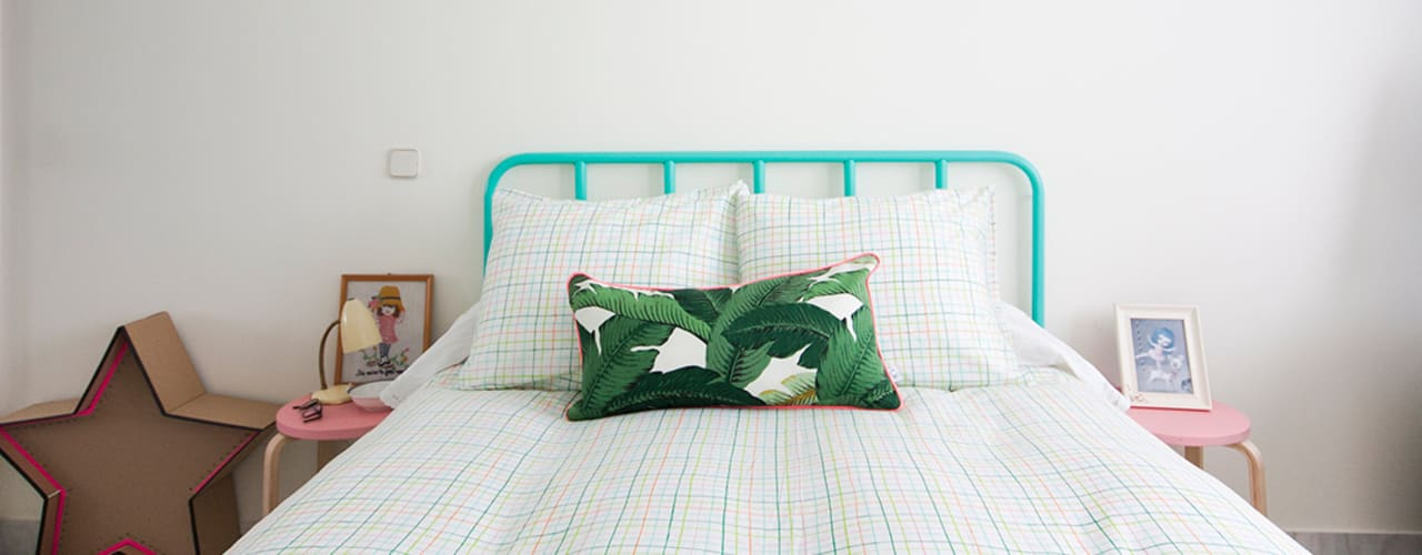 Tropical style bedroom by www.rocio-olmo.com Tropical