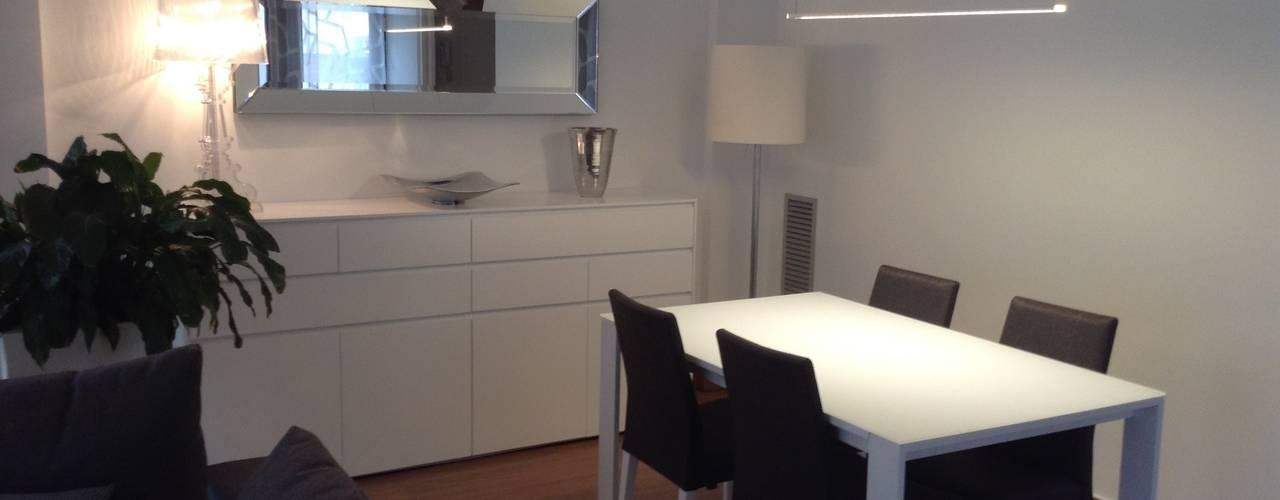 Proyecto de interiorismo para un salón comedor en Barcelona