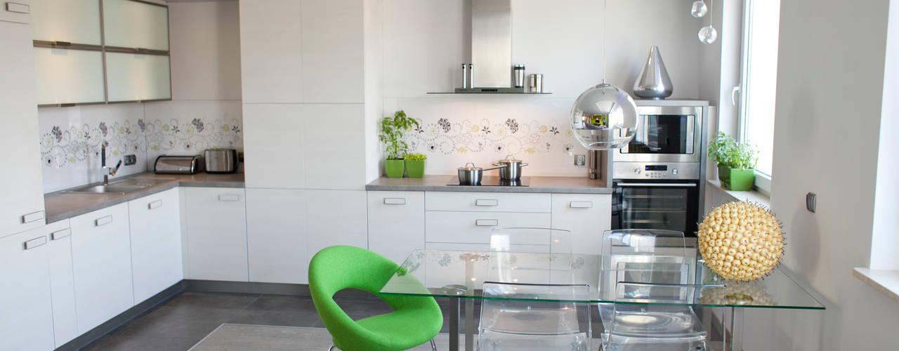 Nova Nowoczesna kuchnia od Arkadiusz Grzędzicki projektowanie wnętrz Nowoczesny