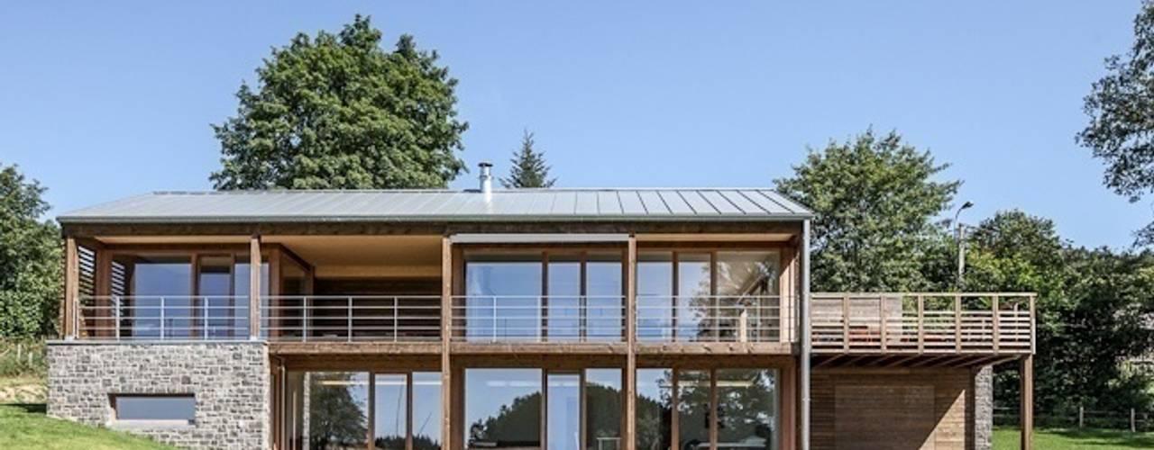 Houses by Pavillonchamps Atelier d'Architecture