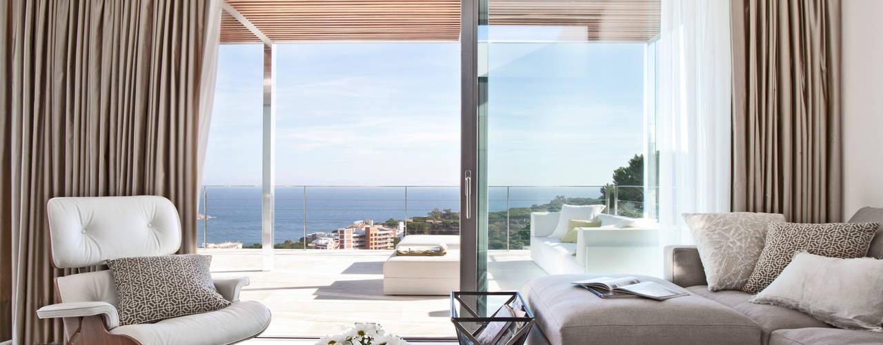 Livings de estilo mediterráneo de IND Archdesign Mediterráneo