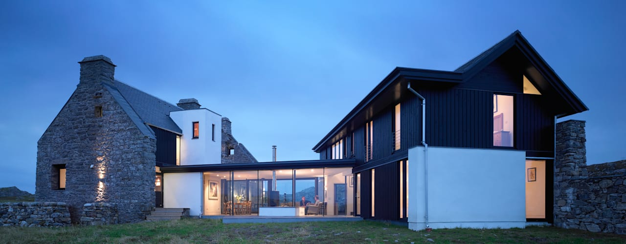 The White House, Isle of Coll Casas modernas: Ideas, imágenes y decoración de WT Architecture Moderno