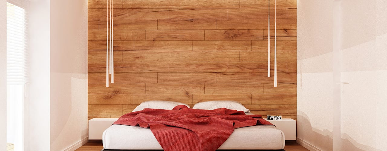 Dormitorios minimalistas de Ale design Grzegorz Grzywacz Minimalista