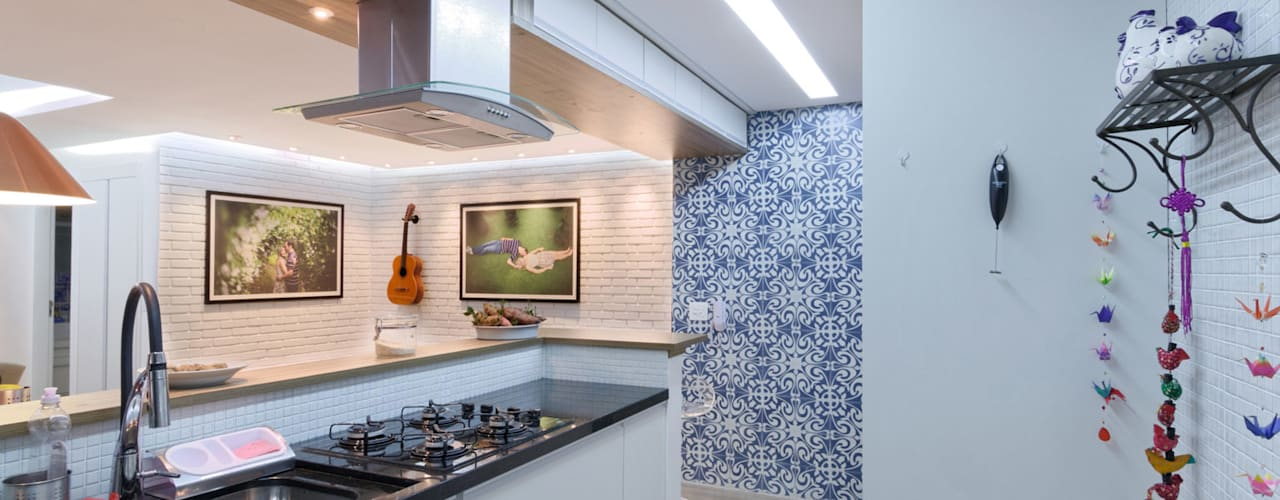 Projekty,  Kuchnia zaprojektowane przez Raphael Civille Arquitetura