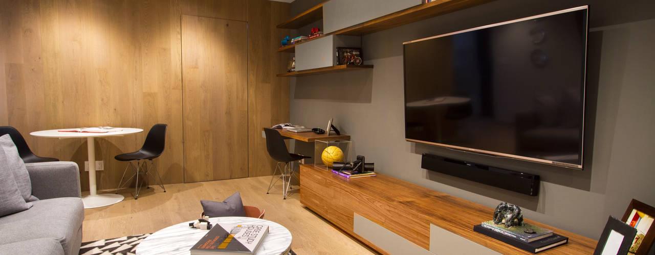 Projekty,  Pokój multimedialny zaprojektowane przez Concepto Taller de Arquitectura