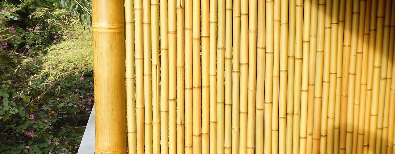 Balcones y terrazas rústicos de Bambu Rei Eco-Design Rústico