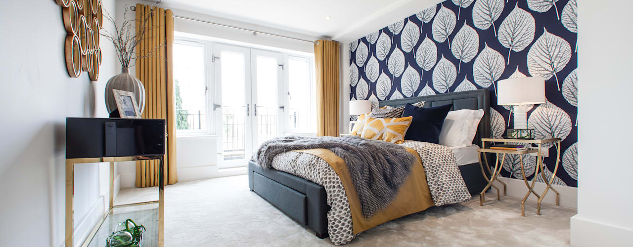 Glenferness Mews , Talbot Avenue Jigsaw Interior Architecture 寝室テキスタイル