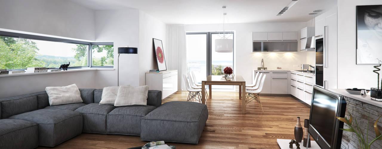Minimalistische woonkamers van SMAG design Minimalistisch