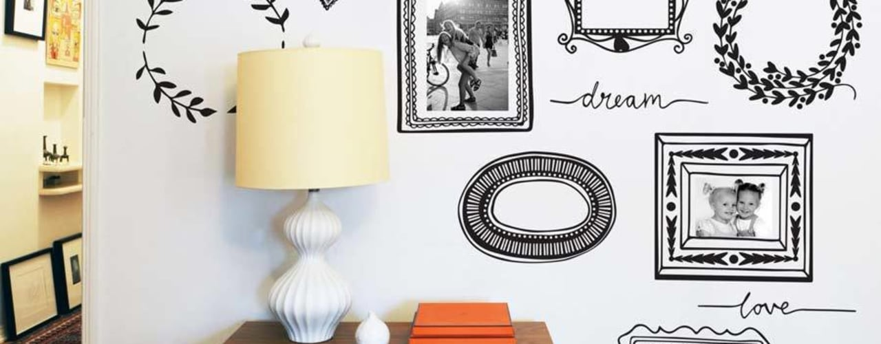 Hand drawn wall sticker collection par Vinyl Impression Moderne