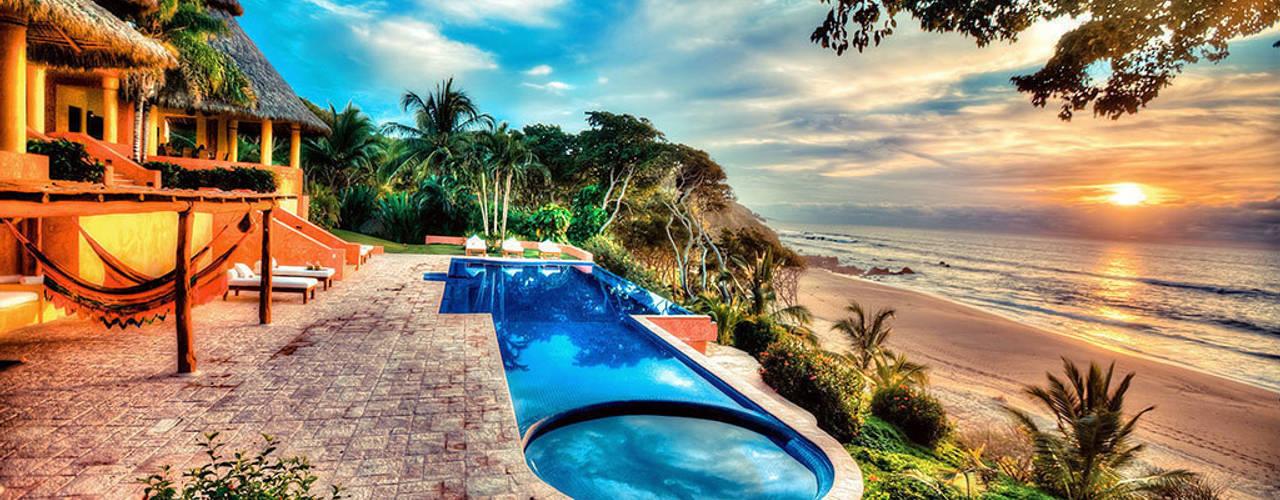 Casa Mis Amores BR ARQUITECTOS Albercas tropicales