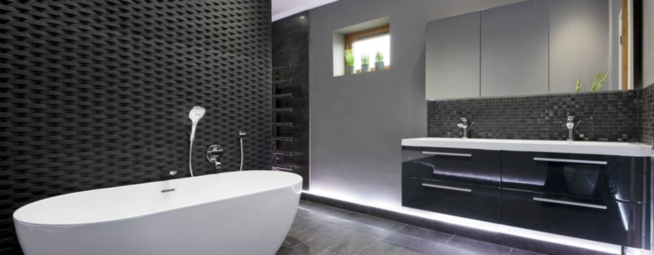 Rock Star Bathroom Salle de bain moderne par Lisa Melvin Design Moderne