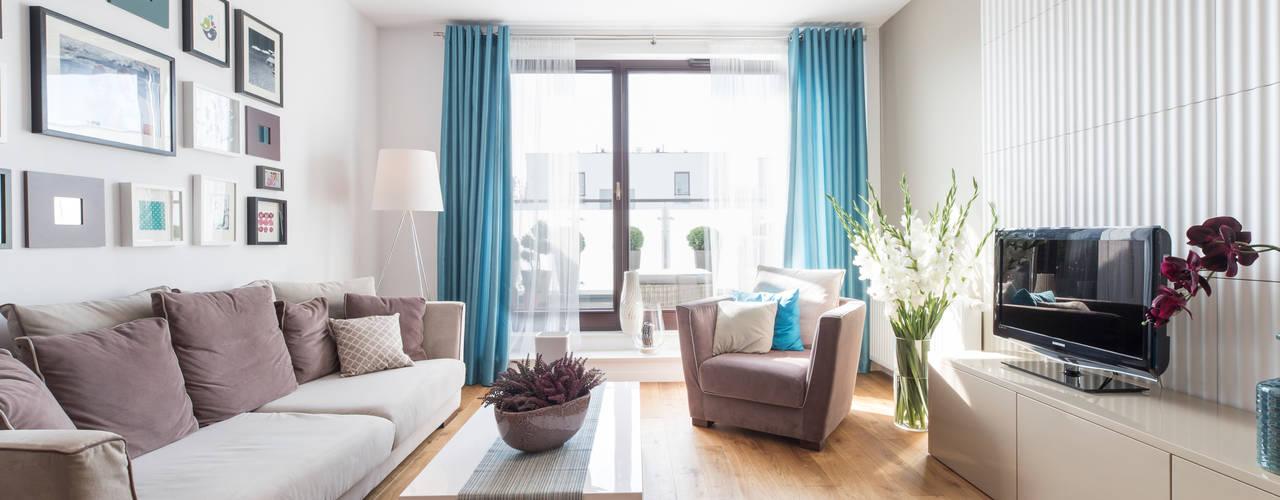 Mieszkanie - Warszawa - 85 m2: styl , w kategorii Salon zaprojektowany przez Mprojekt,Nowoczesny