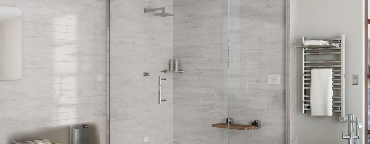 Steam Showers with Mr. Steam Generators Nordic Saunas and Steam Modern bathroom