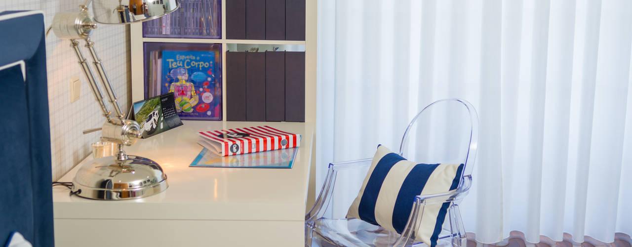 Quarto Azul Ângela Pinheiro Home Design Quartos ecléticos
