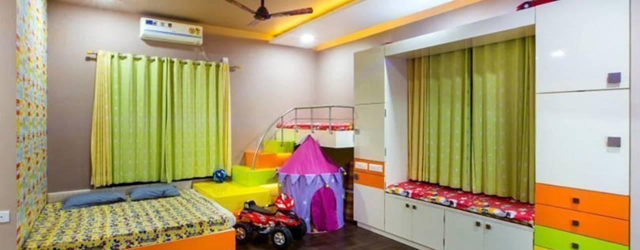 غرفة الاطفال تنفيذ Srujan Interiors & Architects Pvt Ltd, حداثي