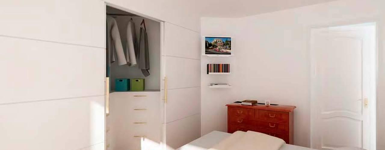 Chambre de style  par Studio Farina Zerozero - 3D & Progettazione