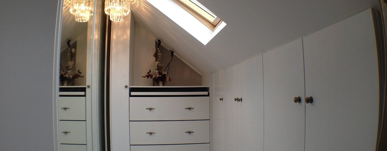 Loft Conversion : modern Dressing room by Progressive Design London