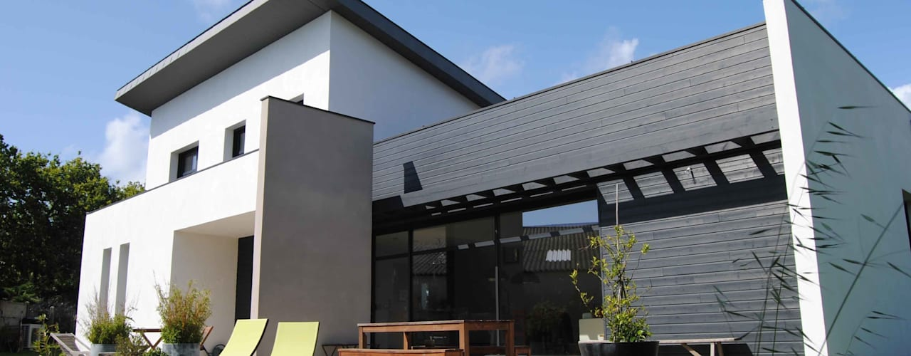 Maison L Maisons modernes par Courants Libres Moderne