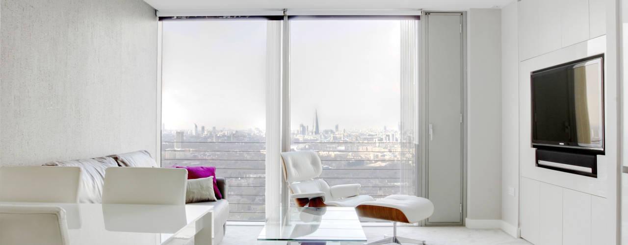 Canary Wharf Interior Design Moderne Wohnzimmer von Primrose Interiors Modern