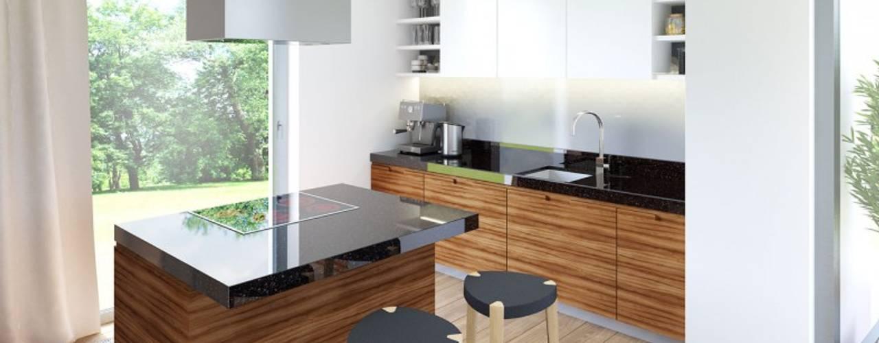 Cocinas de estilo moderno de Pracownia Projektowa ARCHIPELAG