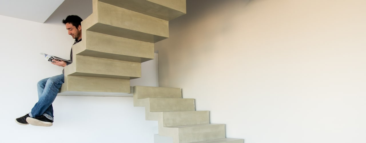 Modern corridor, hallway & stairs by Estudio A+3 Modern