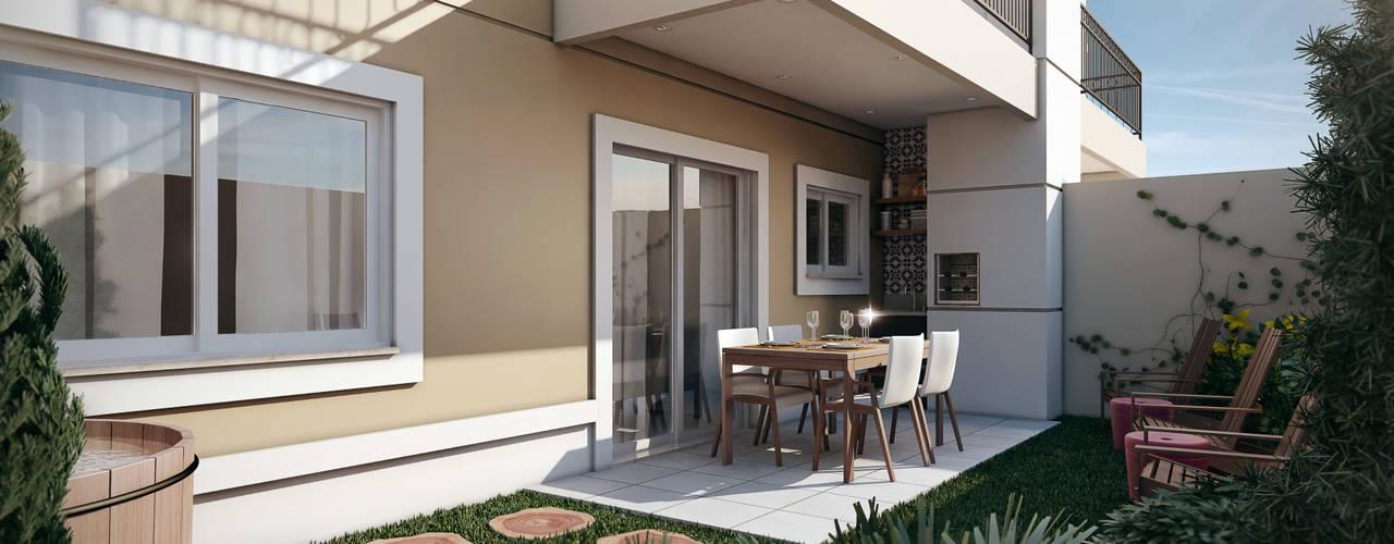 Terraços  por Lodo Barana Arquitetura e Interiores,