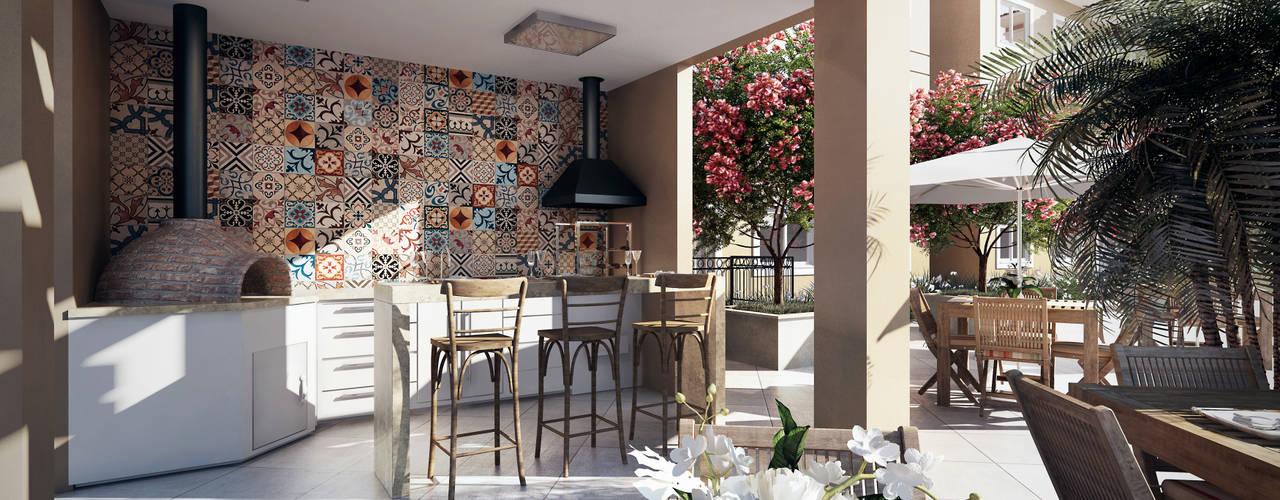 Patios by Lodo Barana Arquitetura e Interiores