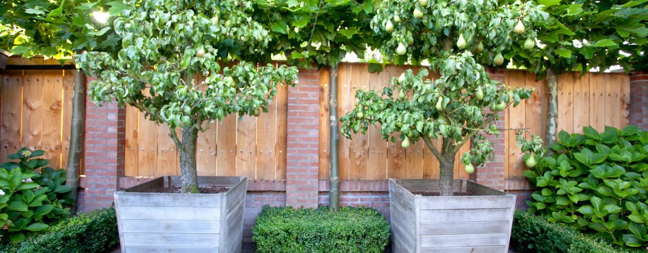 Stoere achtertuin in Cothen Landelijke tuinen van Dutch Quality Gardens, Mocking Hoveniers Landelijk