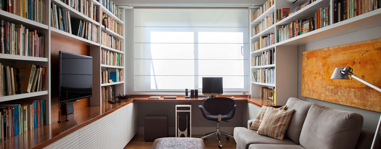Eclectic style study/office by Da.Hora Arquitetura Eclectic