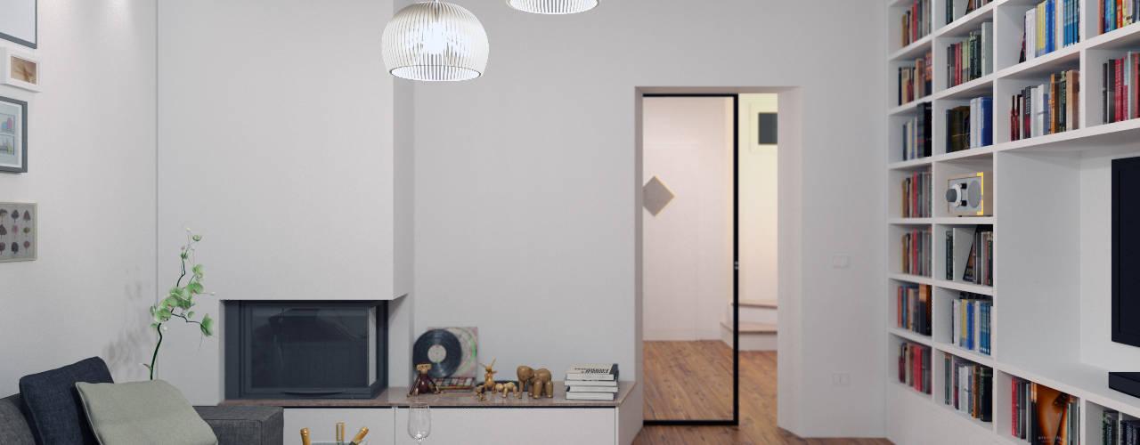 Ristrutturazione di una villa a Belluno - Progetto II:  in stile  di 02A Studio