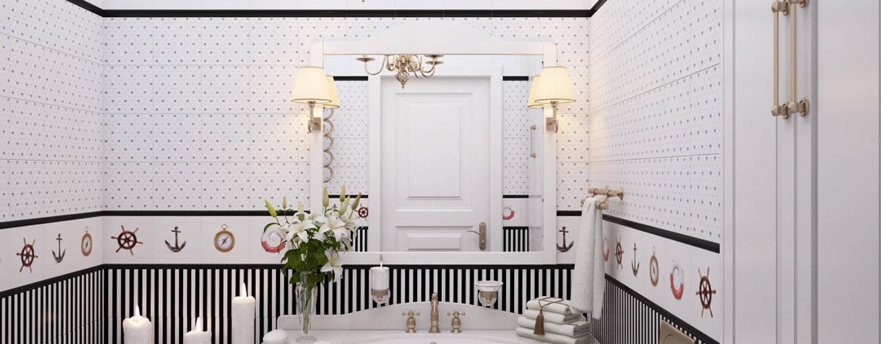 студия визуализации и дизайна интерьера '3dm2' Minimalist bathroom