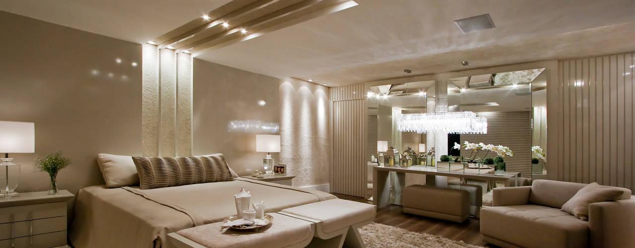 Suíte Casal - Casa Cor PR 2010 Rolim de Moura Arquitetura e Interiores Quartos modernos