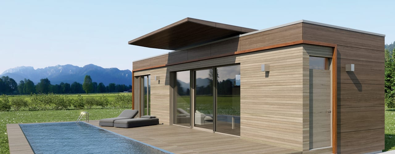 現代房屋設計點子、靈感 & 圖片 根據 Pilzarchitektur 現代風