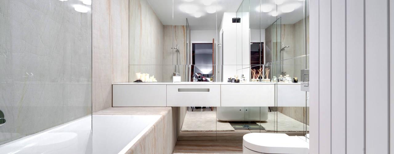 Mieszkanie singla: styl , w kategorii Łazienka zaprojektowany przez Architektura Wnętrz Daria Zaremba,Nowoczesny