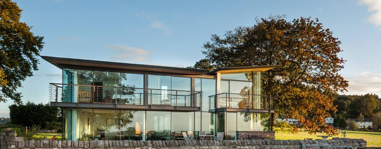 Carreg a Gwydr Casas modernas por Hall + Bednarczyk Architects Moderno
