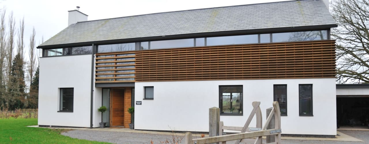 Llambetta House, Usk:  Houses by Hall + Bednarczyk Architects