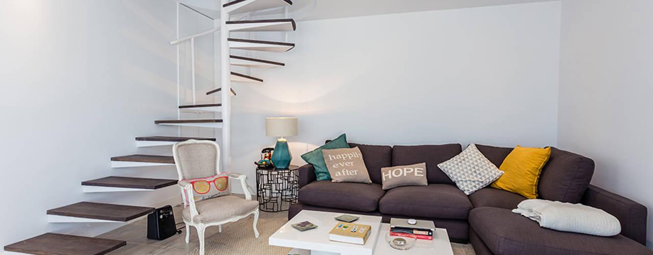 modern Living room by Arquitectos Madrid 2.0