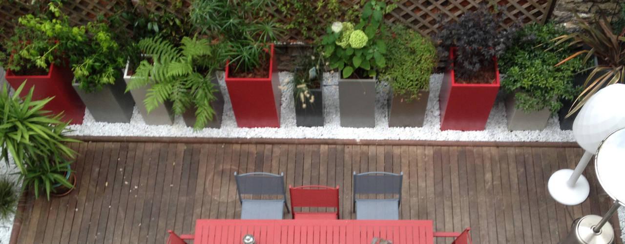 Bacs IMAGE'IN Hauts en couleurs ! Jardin moderne par ATELIER SO GREEN Moderne
