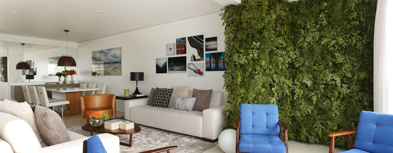 Apartamento M|R: Salas de estar modernas por Now Arquitetura e Interiores