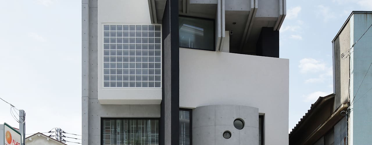 平野智司計画工房 Modern houses Grey