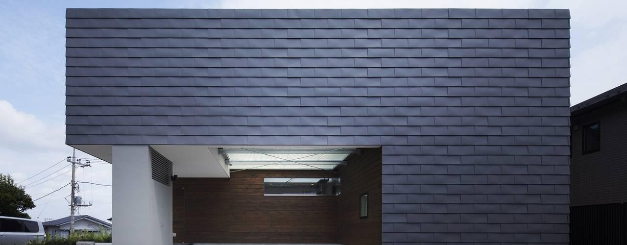 AY 庭とパティオのある家 山縣洋建築設計事務所 モダンな 家 アルミニウム/亜鉛