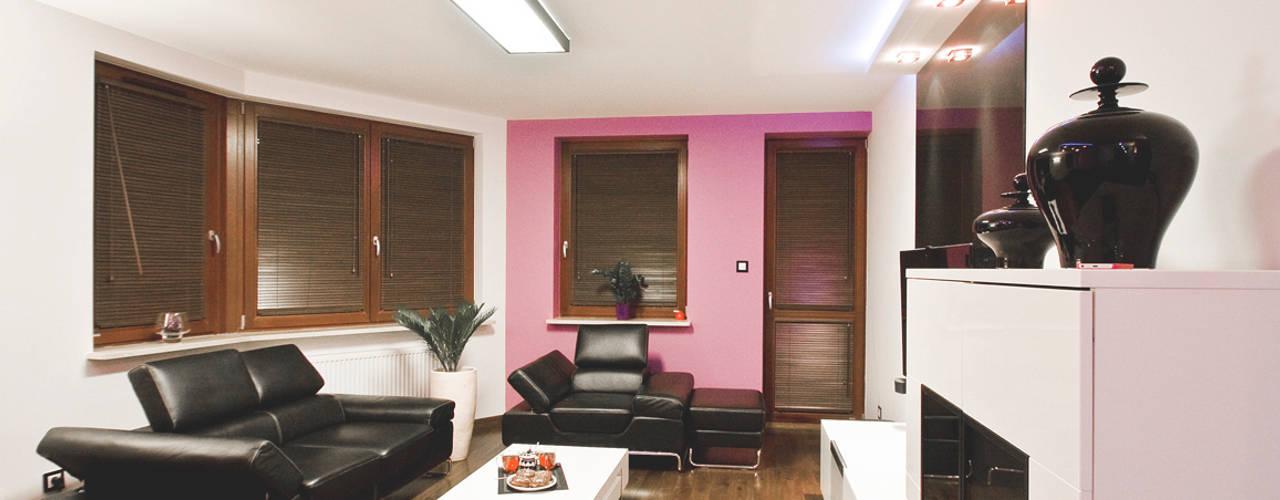 Ładne Wnętrze Moderne Wohnzimmer