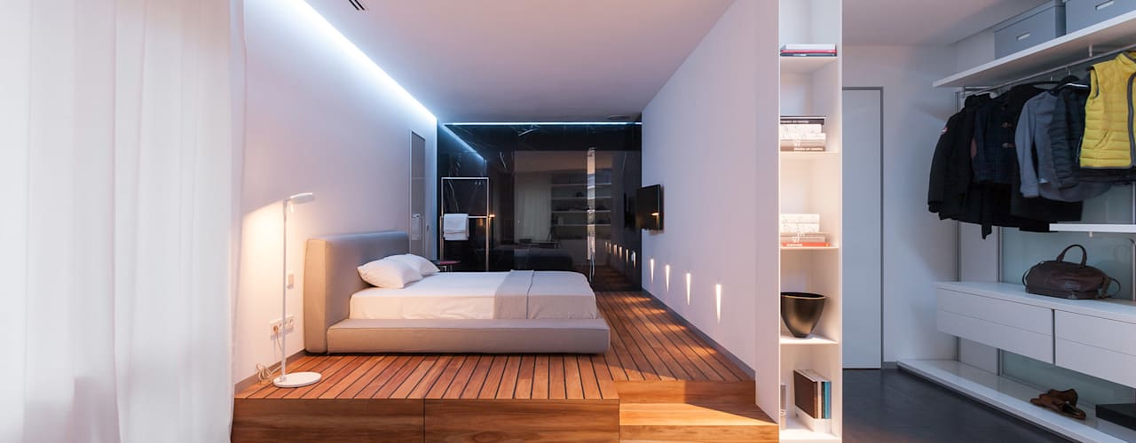 apartment V-21 Minimalist bedroom by VALENTIROV&PARTNERS Minimalist