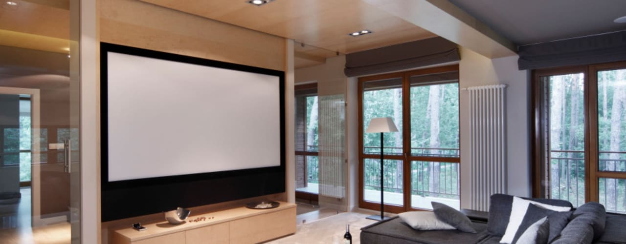 Dom w Magdalence Nowoczesny pokój multimedialny od 3deko Nowoczesny