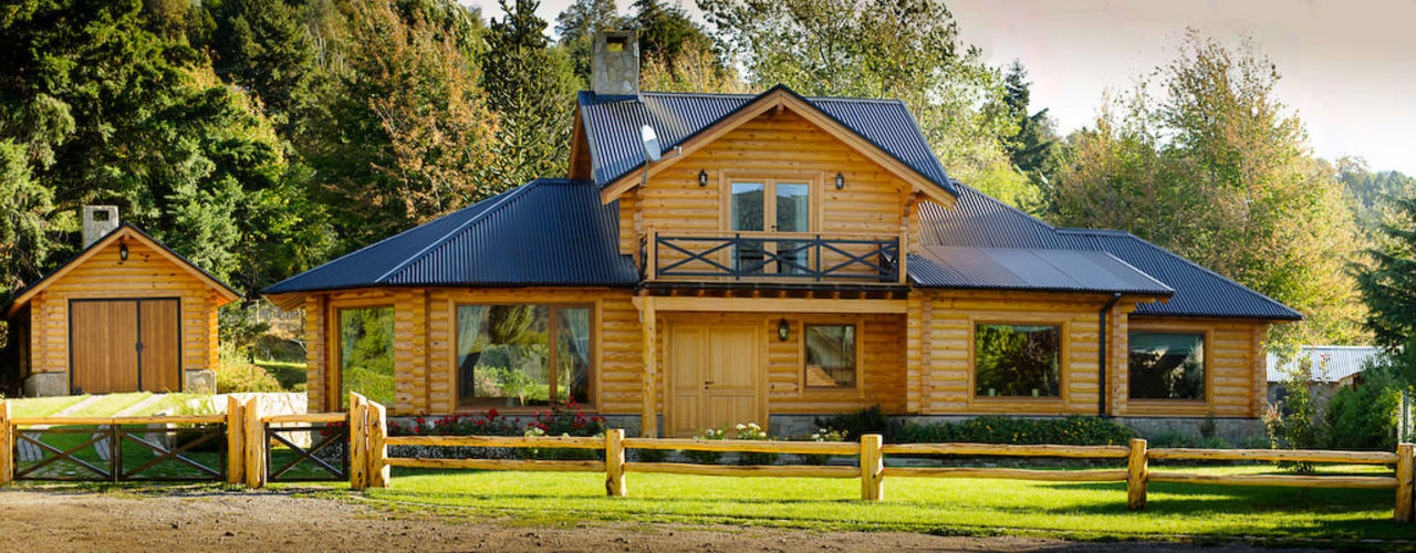 Detached home by Patagonia Log Homes - Arquitectos - Neuquén