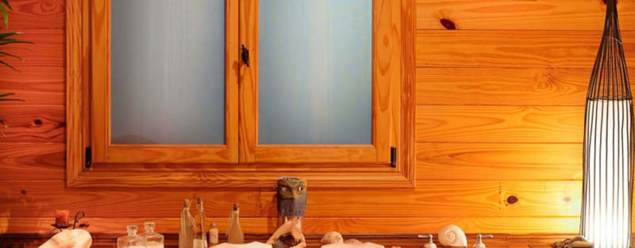 Country style bathroom by Patagonia Log Homes - Arquitectos - Neuquén Country