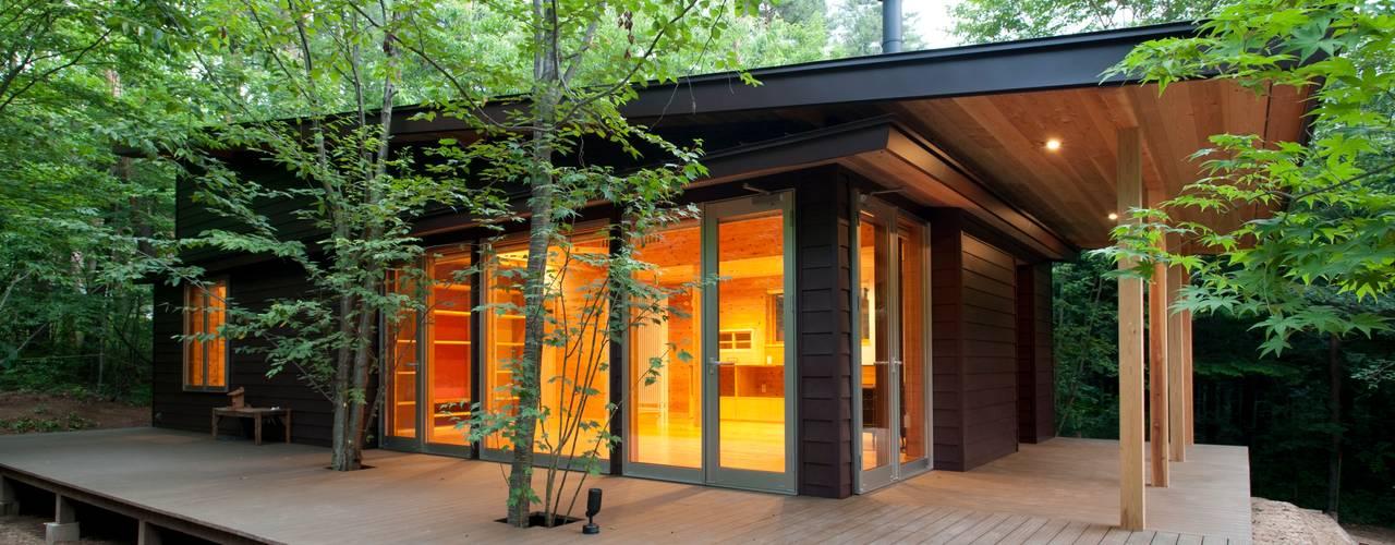 吉田建築設計事務所 Modern home Iron/Steel Black